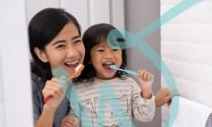 Oral hygiene routine for kids